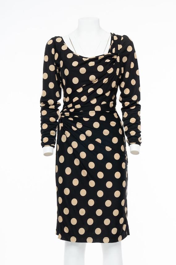 EMANUEL UNGARO Iconic beije pois dress - Vintage 8