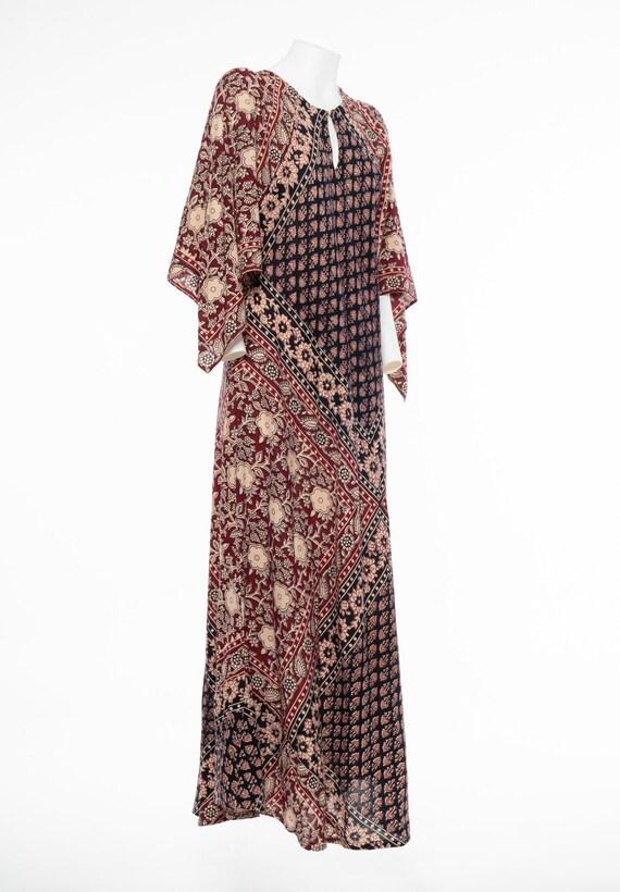 VINTAGE 70S Indian Cotton KAFTAN - image 3