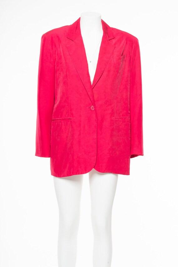 VINTAGE 80S silk pink BLAZER - image 1