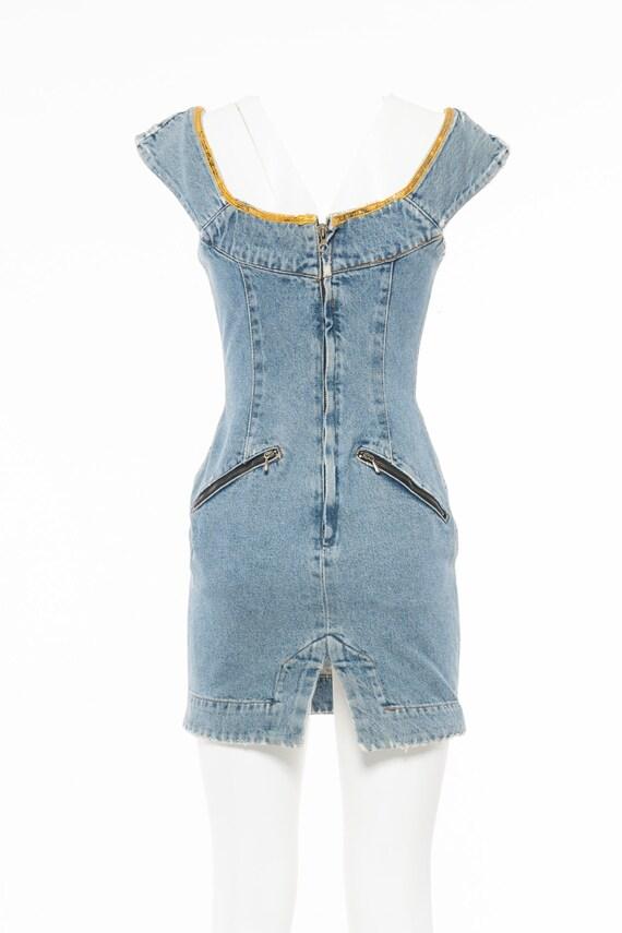 Katharine Hamnett Vintage '90s Denim Dress - image 3