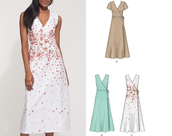 New Look Sewing Pattern 6305 Misses Dresses Size A 10-12-14-16-18-20-22