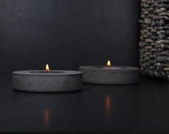 Charcoal concrete candle holder   Tea light beton holder   Charcoal incense burner   Modern industrial decor