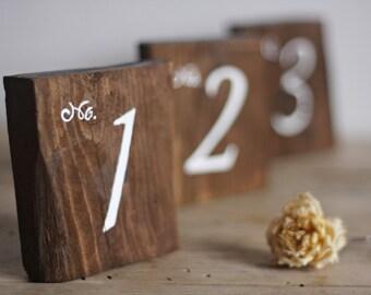Chiffres de numéro de Table rustique - Table de mariage - mariage rustique signes - mariages Decor - numéros de Table en bois pour mariage - mariage Bohème