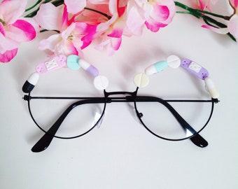 9f1bf12b1f8 cute menhera inspired frames vintage pills glasses kawaii pastel fairy kei