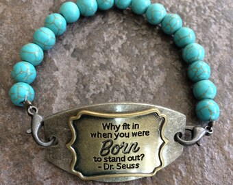 Beaded and Metal Rustic Bracelet