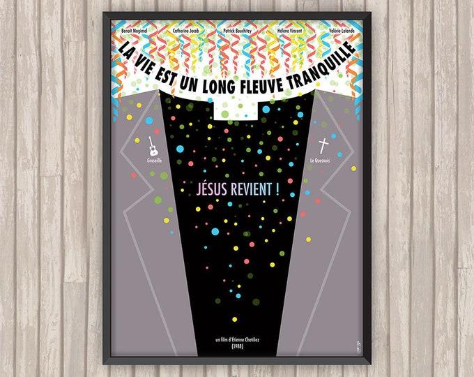 La vie est un LONG FLEUVE TRANQUILLE, l'affiche revisitée par Lino la Tomate !