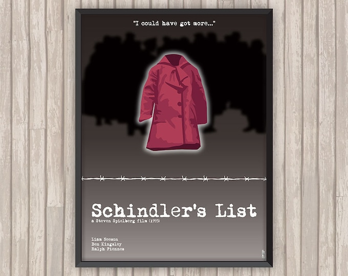 LA LISTE de SCHINDLER (Schindler's List), l'affiche revisitée par Lino la Tomate !