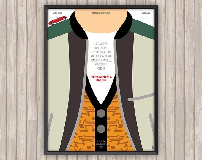 La Folle Journée de FERRIS BUELLER (Ferris Bueller's day off), l'affiche revisitée par Lino la Tomate !