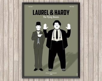 LAUREL & HARDY Conscrits (The Flying Deuces), l'affiche revisitée par Lino la Tomate !