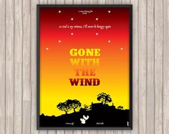 AUTANT en EMPORTE le VENT (Gone with the Wind), l'affiche revisitée par Lino la Tomate !