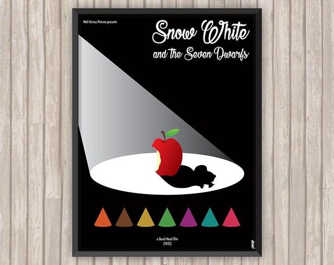 BLANCHE-NEIGE et les Sept Nains (Snow White and the Seven Dwarfs), l'affiche revisitée par Lino la Tomate !