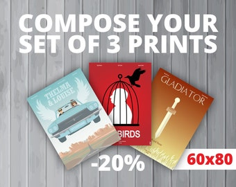 3 affiches au choix / Your set of 3 prints (60x80 cm) (20% de réduction)