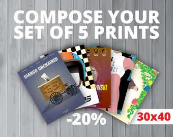5 affiches au choix / Your set of 5 prints (30x40 cm) (20% de réduction)