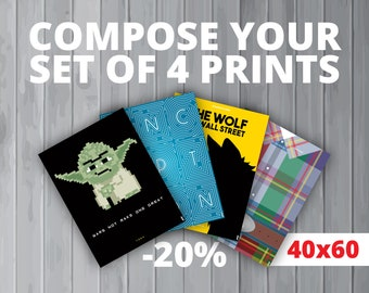 4 affiches au choix / Your set of 4 prints (40x60 cm) (20% de réduction)