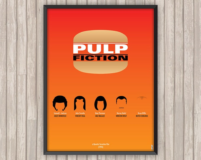 Poster film PULP FICTION, l'affiche revisitée par Lino la Tomate !