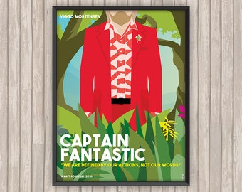 CAPTAIN FANTASTIC, l'affiche revisitée par Lino la Tomate !