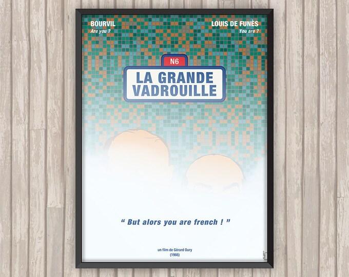 LA GRANDE VADROUILLE, l'affiche revisitée par Lino la Tomate !