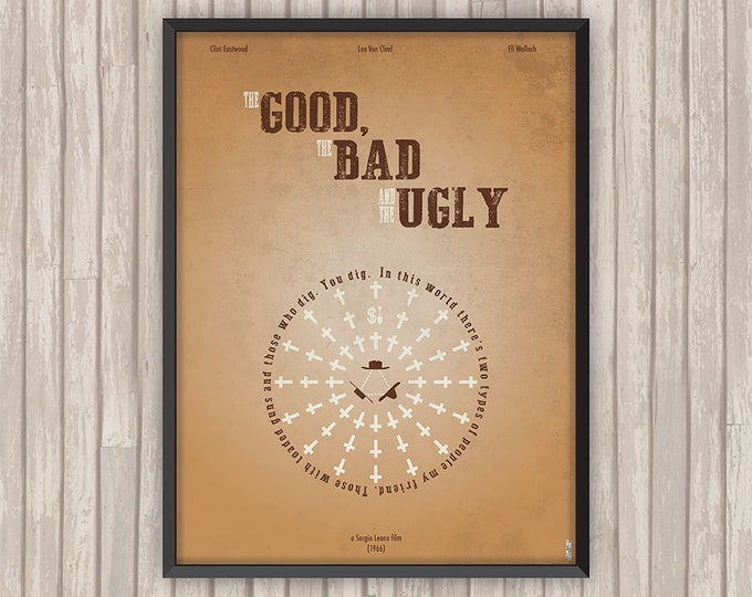Le BON, La BRUTE et le TRUAND (The Good, The Bad and the Ugly), l'affiche revisitée par Lino la Tomate !