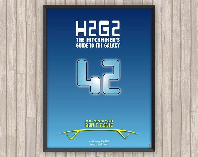 H2G2 Le Guide du voyageur galactique (H2G2 The Hitchhiker's Guide to the Galaxy), l'affiche revisitée par Lino la Tomate !