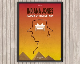INDIANA JONES Les Aventuriers de l'Arche Perdue (Raiders of the Lost Ark), l'affiche revisitée par Lino la Tomate !