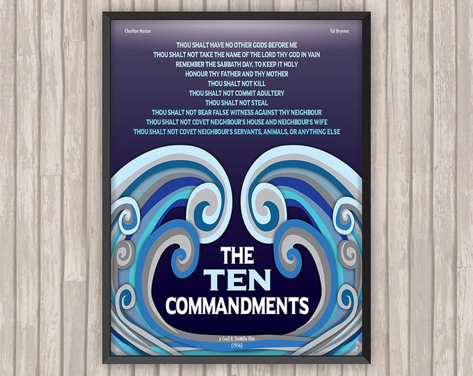 LES DIX COMMANDEMENTS (The Ten Commandments), l'affiche revisitée par Lino la Tomate !