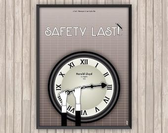 Harold Lloyd MONTE LÀ-DESSUS ! (Safety Last!), l'affiche revisitée par Lino la Tomate !