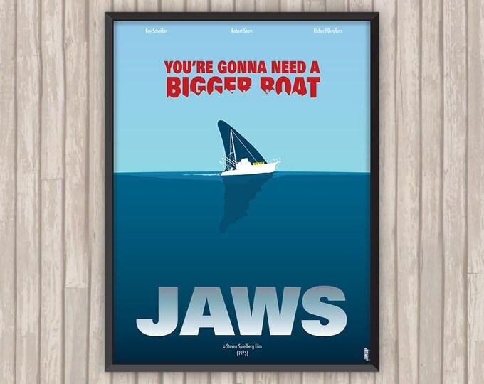 Les DENTS de la MER (Jaws), l'affiche revisitée par Lino la Tomate !