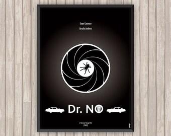 JAMES BOND 007 contre Dr NO (Dr No), l'affiche revisitée par Lino la Tomate !