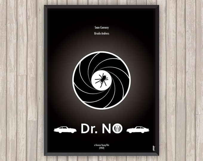JAMES BOND 007 contre Dr NO (Dr No), l'affiche revisitée par Lino la Tomate !