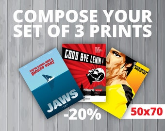 3 affiches au choix / Your set of 3 prints (50x70 cm) (20% de réduction)