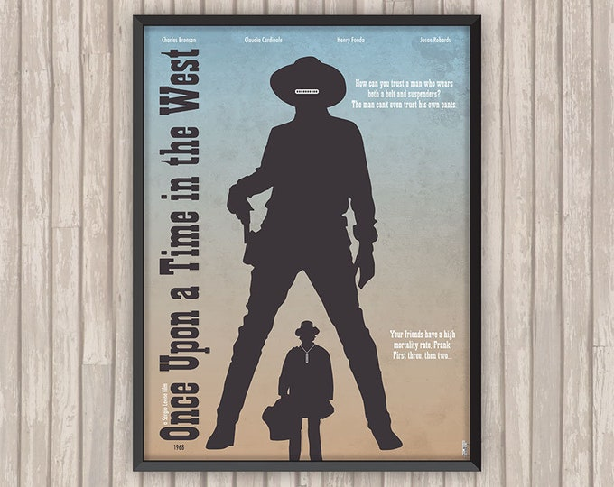 IL était une fois DANS L'OUEST (One upon a Time in the West), l'affiche revisitée par Lino la Tomate !
