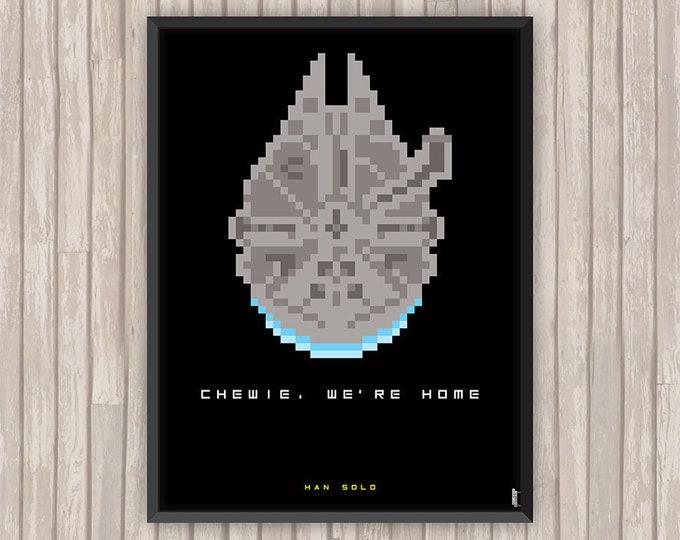 STAR WARS, Han Solo, Pixel art, l'affiche revisitée par Lino la Tomate !