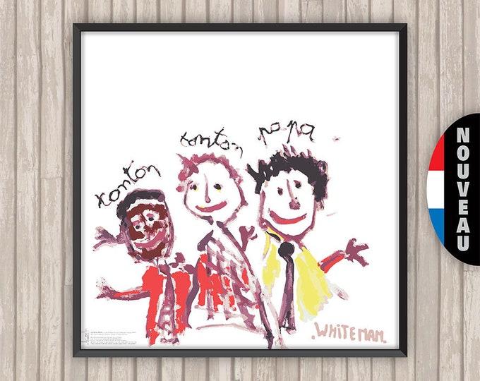 MONOCHROME DE WHITEMAN Les Trois Frères, l'affiche revisitée par Lino la Tomate !