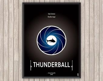 OPÉRATION TONNERRE (Thunderball), l'affiche revisitée par Lino la Tomate !