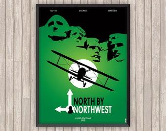 LA MORT aux TROUSSES (North by Northwest), l'affiche revisitée par Lino la Tomate !