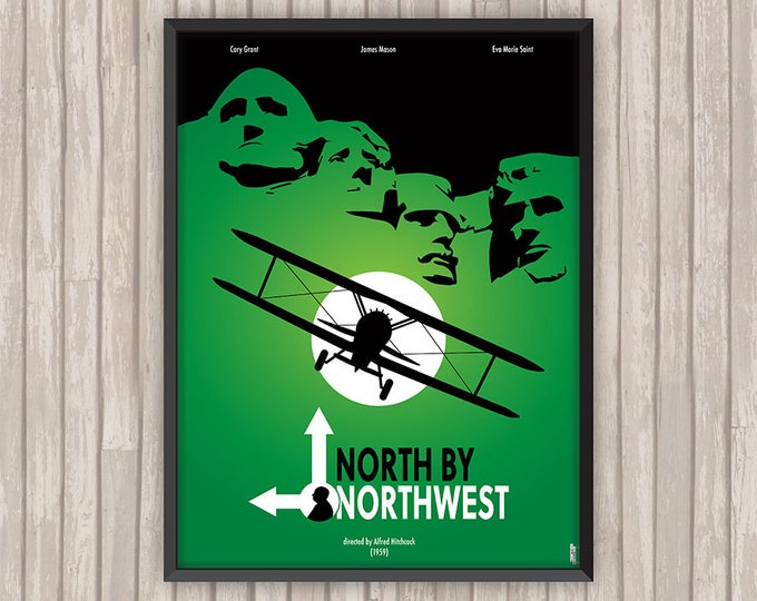 LA MORT aux TROUSSES (North by Northwest), l'affiche revisitée par Lino la Tomate !