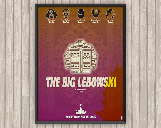 THE BIG LEBOWSKI, l'affiche revisitée par Lino la Tomate !