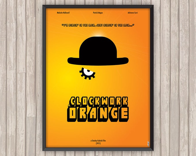 ORANGE MÉCANIQUE (A Clockwork Orange), l'affiche revisitée par Lino la Tomate !