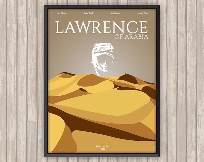 LAWRENCE D'ARABIE (Lawrence of Arabia), l'affiche revisitée par Lino la Tomate !