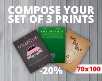 3 affiches au choix / Your set of 3 prints (70x100 cm) (20% de réduction)