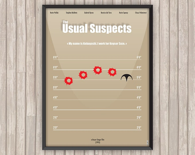 USUAL SUSPECTS (The Usual Suspects), l'affiche revisitée par Lino la Tomate !