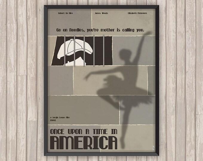 IL ÉTAIT une fois en AMÉRIQUE (Once upon a Time in America), l'affiche revisitée par Lino la Tomate !