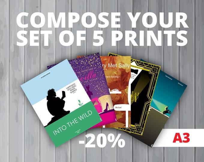 5 affiches au choix / Your set of 5 prints (A3) (-20%)
