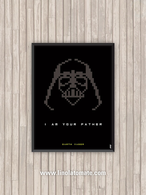 Affiche Film Star Wars Dark Vador Darth Vader Pixel Art