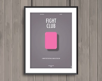FIGHT CLUB, minimalist movie poster