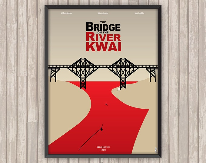 Le PONT de la RIVIÈRE KWAÏ (The Bridge on the River Kwai), l'affiche revisitée par Lino la Tomate !