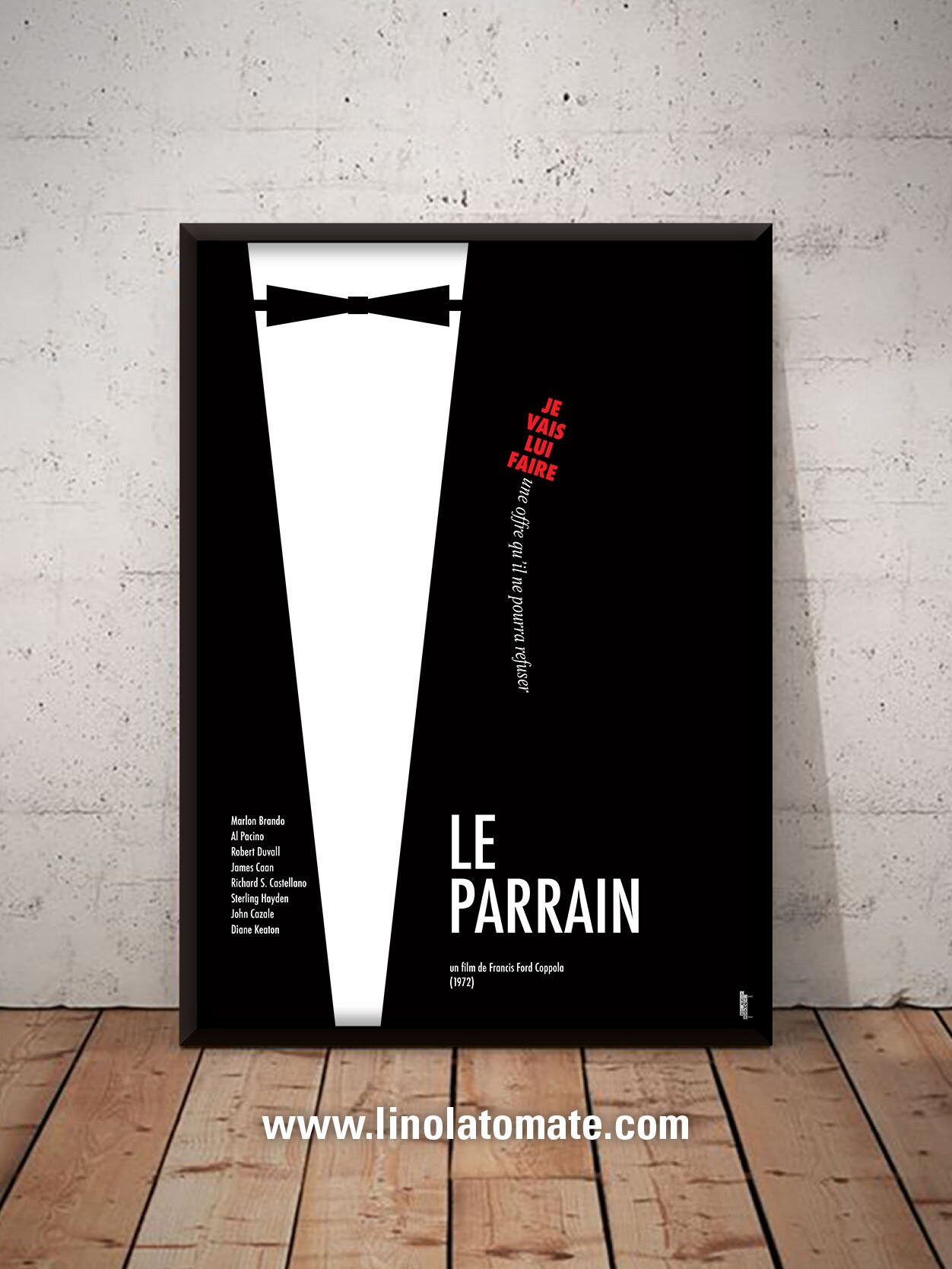 Le Parrain The Godfather L Affiche Revisit 233 E Par Lino