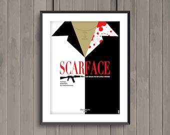 SCARFACE, minimalist movie poster