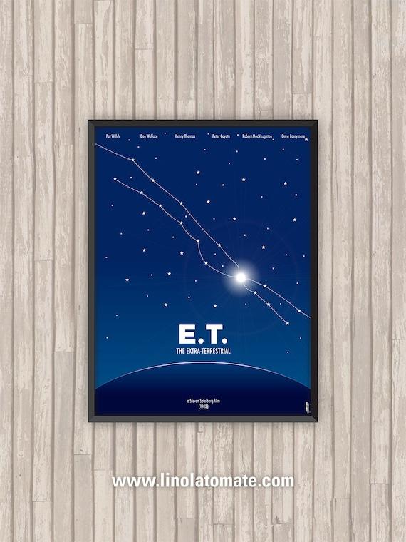 L/'Extra Terrestre Film illustration Coussin E.T