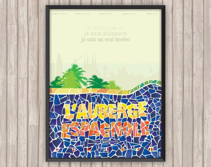 L'AUBERGE ESPAGNOLE, l'affiche revisitée par Lino la Tomate !